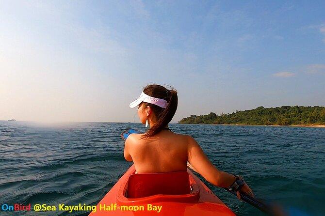 MÁS FOTOS, [PRIVATE CHARTER] SEA-KAYAKING along HALF-MOON BAY & SUNSET DRIFTING & DINNER