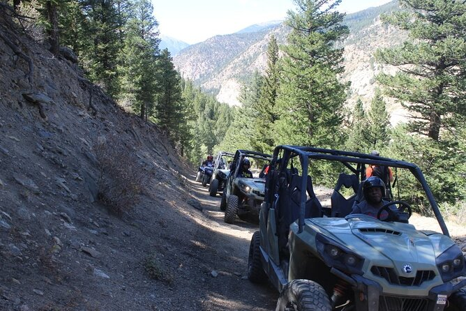 Ride the Rockies! Explore the surrounding area on a guided ATV trek on the Silver Creek trail located right down the street from our adventure park. This 1 hour trip through the mountains includes one of our guides for the first vehicle to lead the way, gear and safety equipment, and photos taken throughout the trip to purchase digitally afterwards.