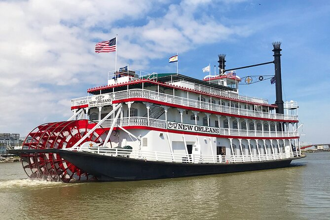 The Steamboat NATCHEZ is taking some time off, but her sister vessel will be taking her place. You'll get the same authentic riverboat experience of a leisurely, two-hour cruise on the mighty Mississippi. Board your riverboat to the delightful tunes of the Steam Calliope. Experience the sights and sounds of river life that enchanted characters of history and literature - like Mark Twain's Huck Finn and Tom Sawyer - and see the bustling activity of America's second-largest port!