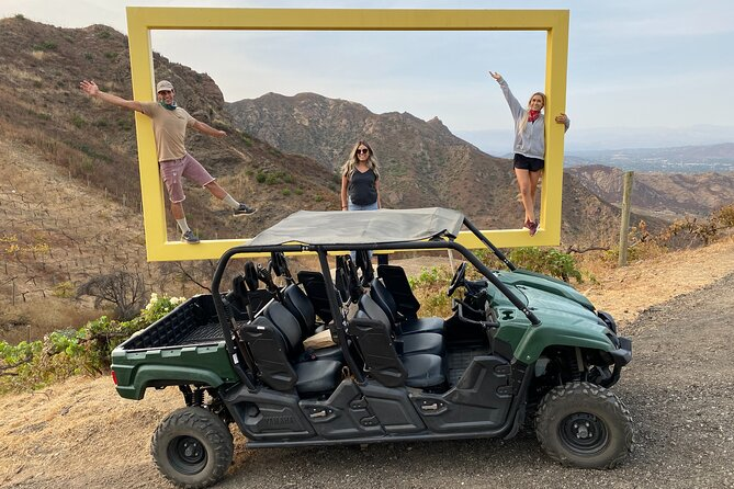The 4x4 Adventure tour is a 2 hour guided Adventure around the Saddlerock Ranch Vineyards. Guests will explore the vineyards and natural areas on the property. Stops may include visits to our Chumash Native American archaeological site, our organic vegetable garden, mountain top overlooks and many more. This is a private tour and we have several vehicle options. We are able to accommodate from 1-5 guests. Snacks and Beverages will be included during the tour as well as a take home bottle of wine.