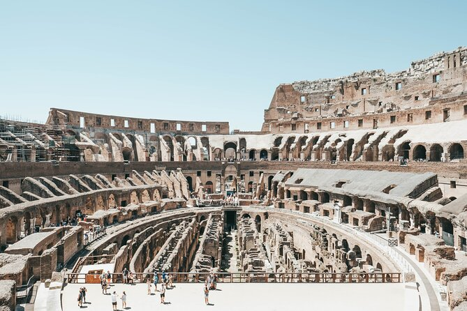 If you're going to visit the Colosseum, you want to make sure you get the full experience. This exclusive skip-the-line tour gives you full access to restricted areas, for the full VIP experience. <br><br>First you will explore the mighty Colosseum, including the restricted areas closed to the general public. Visit the vast underground chambers where animals were kept and ancient elevator systems were operated. Then stand on the arena floor where the gladiators fought to the death. <br><br>After a short break, our expert guide will walk you to the Palatine Hill and Roman Forum. Here you will discover the remains of the emperors luxury palaces and the hidden gems of the ancient Roman city centre. Expect unforgettable panoramic views and fascinating tales.<br><br>This truly is a once in a lifetime experience. Access is limited - book now to avoid disappointment.