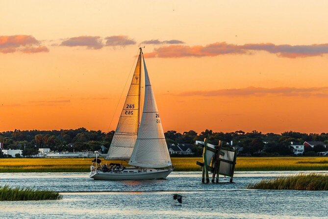 Charleston Harbor Tour (3 Hours)<br><br>Depending on tides, currents and wind our three hour harbor sail will take you out to Fort Sumter, the Charleston Battery and waterfront, up to the Arthur Ravenel Jr. Bridge, Yorktown and Patriots Point. We will circle the entire harbor while you relax on the bow, amidships or cockpit and breath it all in. It is a rare occasion when we do not see a dolphin riding our bow wake or playing in the harbor waters around Charleston.<br><br>Charleston Harbor, Offshore, Anchor and Swim (6 hours) can be customized at a different rate.<br>Want something a bit more? Reserve a six-hour charter and head offshore, sail the harbor then anchor out. While at anchor, listen to your favorite music, grab a bite to eat and relax in a hammock or on deck after a refreshing swim. Bring your favorite beverage, hors d' oeuvres or picnic dinner. Enjoy a perfect day on your own floating island!