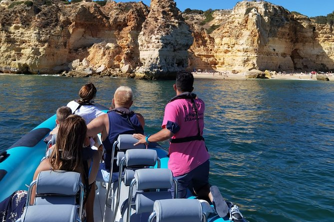Discovery the most exotic beach in the world, Benagil Caves. Travel alone or with a group of friends and book a boat just for you. The small boat goes inside of the most magical place in the world; visit about 30 caves, sea grottoes and deserted beaches.
