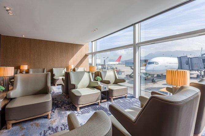 Sala VIP del aeropuerto internacional de Hong Kong., Hong Kong, CHINA