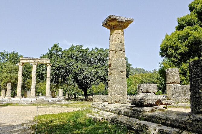 "With this tour you have a unique opportunity to visit the western Peloponnese, in the ""Valley of Gods"", lies the most celebrated sanctuary of ancient Greece, and the birthplace of the most important athletic mega-event of all times; the Olympic Games. Olympia is one of the most well-known tourist destinations in Greece, under UNESCO's heritage and one of the most powerful brand names worldwide.<br><br>You will walk through the impressive ruins of the area where athletes trained and run in the ancient stadium; just as the ancient Olympians did after their victory 3000 years ago. Also you will visit the museum and get the chance to see some unbelievable sculptures such as the sculpted decoration of the temple of Zeus, one of the Seven Wonders of the Ancient World, the famous Hermis of Praxiteles and the statue of Nike of Paionios.<br><br>The duration of the tour is about 5 hours including a Licensed tour guide<br>"