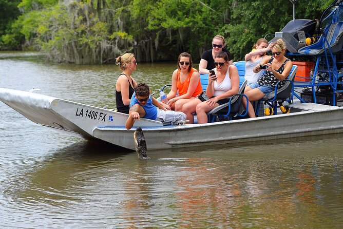Experience the other Swamp Tour in New Orleans. This destination is only 35 minutes from New Orleans yet a world apart. Hold onto your hat! This New Orleans airboat tour is a high speed adventure that is part tour and part ride. This boat has a maximum of six to nine passengers to ensure a small, personal and uncrowded experience.