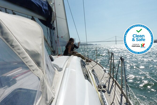 """Climb aboard a comfortable yacht for a 2-hour sailing tour along the waters of the Tagus river until Lisbon center for sightseeing passing the city buildings and monuments from the """"right"""" perspective. Admire the historic Belem Tower, the Cristo Rei Statue, the Discovery Monument, the 25th April Bridge, the Commerce Square and the old town."""