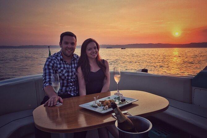 Excursão privada do Lago di Garda ao pôr do sol com prosecco, Lago de Garda, Itália