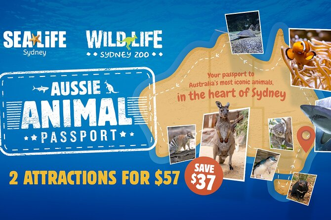 Visit your choice of two, three or four of Sydney's most popular attractions at your own pace with this Sydney combo pass. Select from SEA LIFE Sydney Aquarium, Sydney Tower Eye, WILD LIFE Sydney Zoo or Madame Tussauds Sydney. You can meet native Australian animals from both land and water; take in panoramic views of the city and harbor from the Sydney Tower Eye observation deck; or snap a selfie with wax figures of your favorite celebrities. Pass is valid for one month from date of first use.