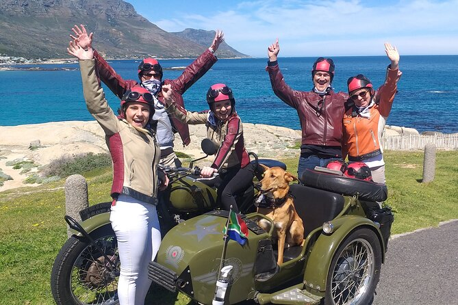 A unique opportunity to travel through the beautiful city of Cape Town & the Cape Peninsula on your own chauffeured vintage motorbike sidecar. Once you're suited up in your retro leathers, you can immerse yourself totally in an adventure of a lifetime. Our qualified & experienced driver/guides will ensure you have a trip of a lifetime. Our itineraries are flexible & if any variations are needed, please let us know when booking & we'll try & accommodate your special requests.