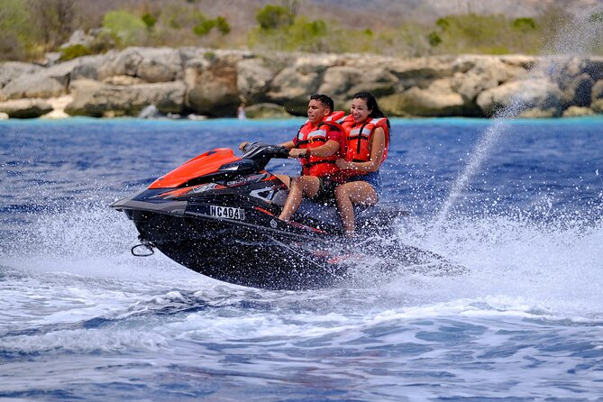 Start your jet ski engine and explore Curacao's spectacular southern coast, including a snorkeling tour in the pristine waters of Caracas Bay. You'll cruise past mangroves, bays and coves before stopping at a gorgeous beach, where an inviting lagoon welcomes you for a swim. Marvel at yachts, luxury estates and vacation homes en route, and snorkel over a tugboat wreck inhabited by morays and scorpion fish! Choose a morning or afternoon departure by jet ski.