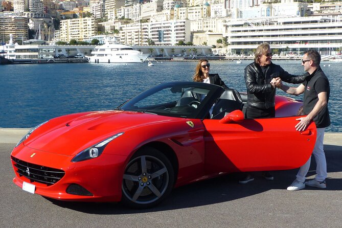2-hour sightseeing driving experience in a Ferrari California T, V8 2+2. <br><br>Take a family member or a friend and enjoy the panoramic views of the Côte d'Azur and the winding roads above Monaco! <br><br>Stopping for photos at 5 impressive viewpoints above Monaco, Cap Ferrat, Ville-franche, Nice and Baie des Anges.