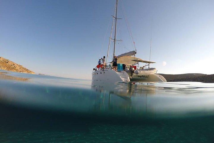 Travesía en catamarán por Mykonos, Miconos, GRECIA