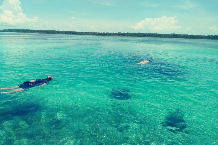 Blue hole snorkeling, and turtle park, Freeport, BAHAMAS