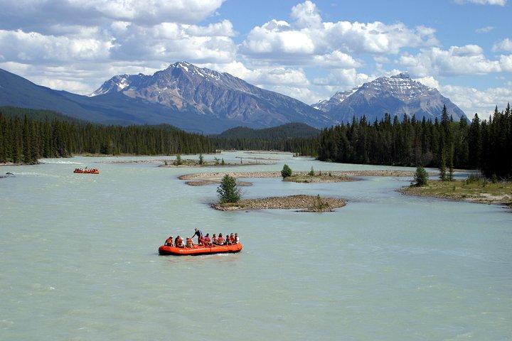 Athabasca River Easy Scenic Raft Trip, Jasper, CANADA