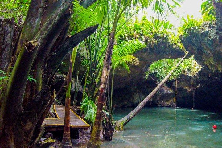 Aventura de jipe pela selva maia para Caverna e Cenote de Jade com snorkel, Cozumel, MÉXICO