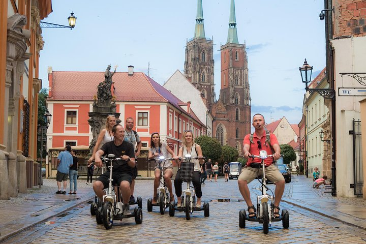 The Grand E-Scooter (3 wheeler) Tour of Wroclaw - everyday tour at 9:30 am, Wroclaw, Poland