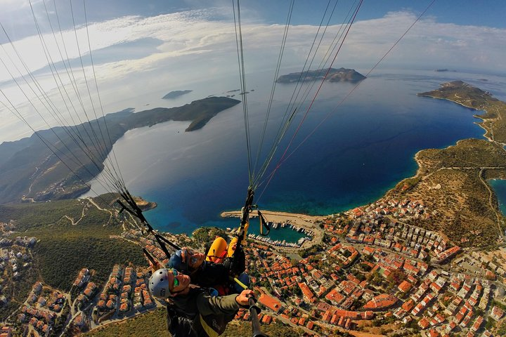 Tandem Paragliding Fly Over Lycia, Kas and Meis, Kas, TURQUIA