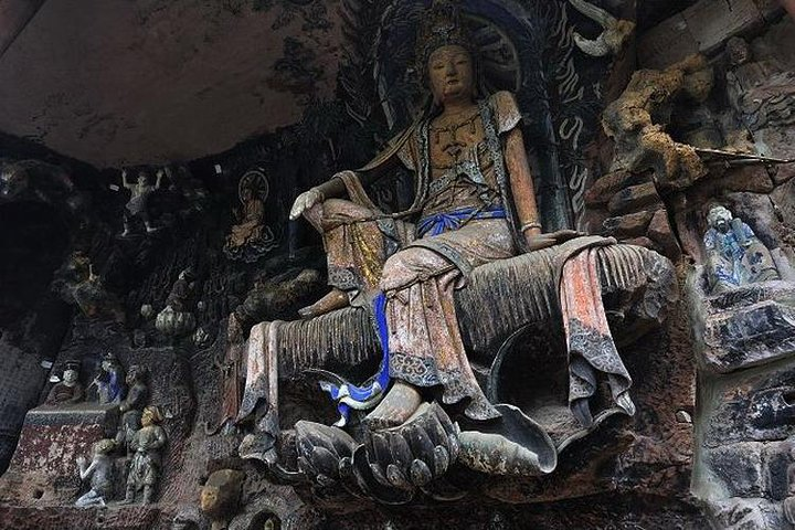 280 USD Per Group Private Anyue Ancient Rock Carvings Learning Tour, Chongqing, CHINA