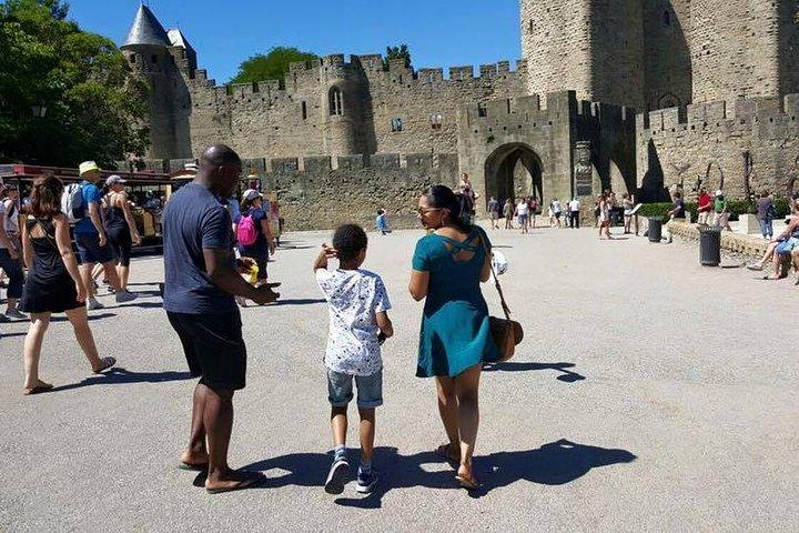 Private day tour : Cité de Carcassonne & the Lastours Castles.From Toulouse, Carcasona, FRANCIA