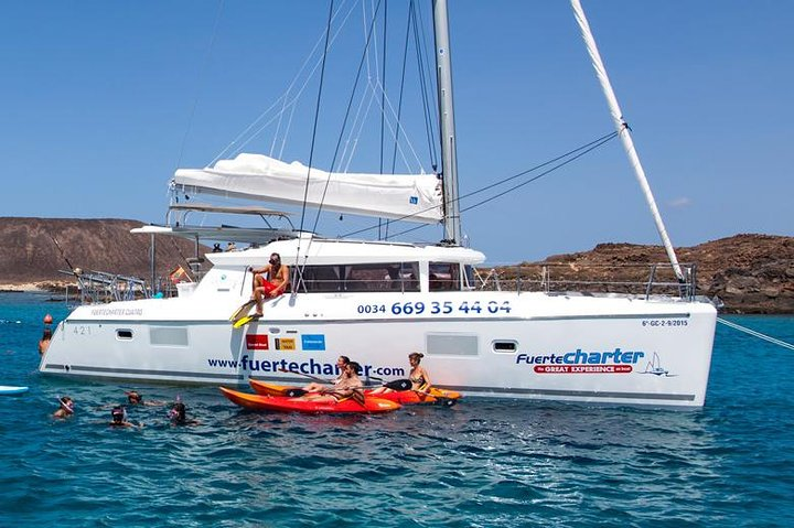 Private trips to Lobos Island and Lanzarote in Catamaran Lagoon 421, Fuerteventura, Spain