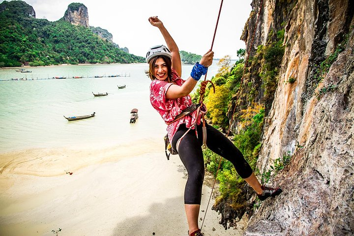 Half Day Rock Climbing Tour Railay Beach, Krabi, Krabi, Tailândia