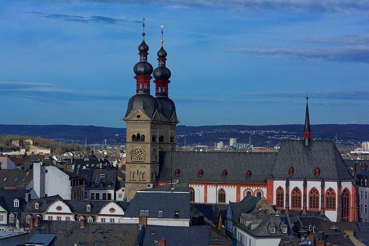 Koblenz - Old Town with the Ehrenbreitstein Fortress, Koblenz, GERMANY