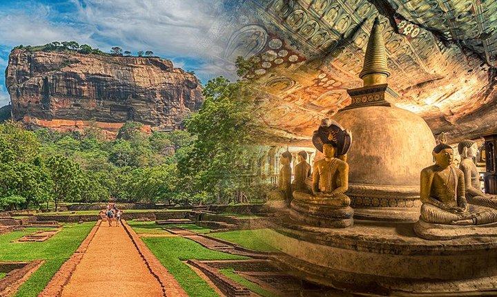 Full Day Tour of Sigiriya Rock Fortress and Dambulla Cave Temple, Negombo, Sri Lanka