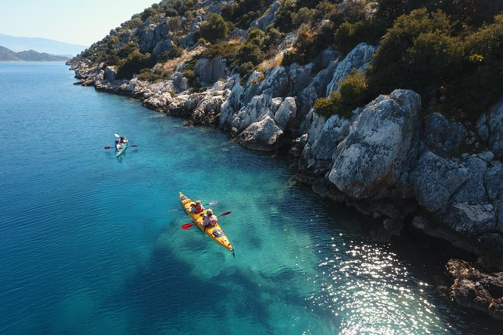 Sea Kayaking Over the Sunken City of Kekova Sound, Turkey, Kas, TURQUIA