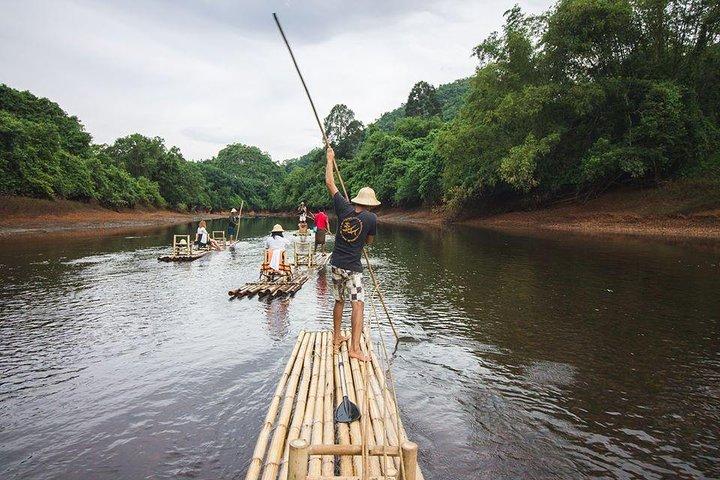 Bamboo Rafting at Klong Saeng River - Khao Sok Lake, ,