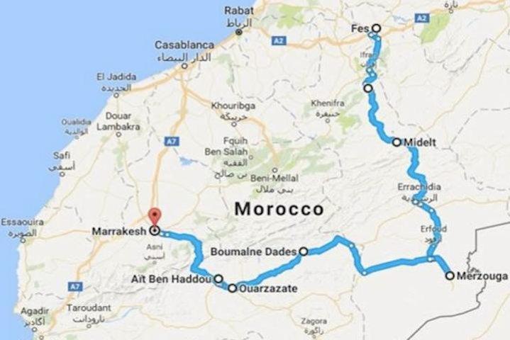 Fes to fes desert tours 2 days, Fez, MARROCOS