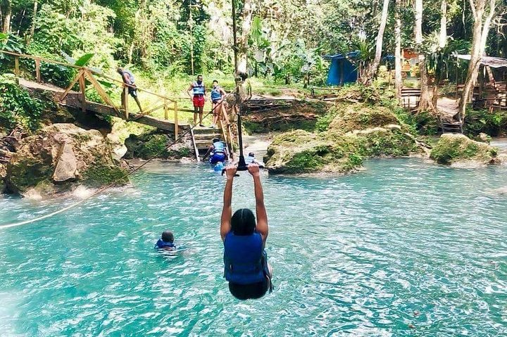 Irie Blue Hole & River Tubing Adventure Tour from Falmouth, Montego Bay, JAMAICA