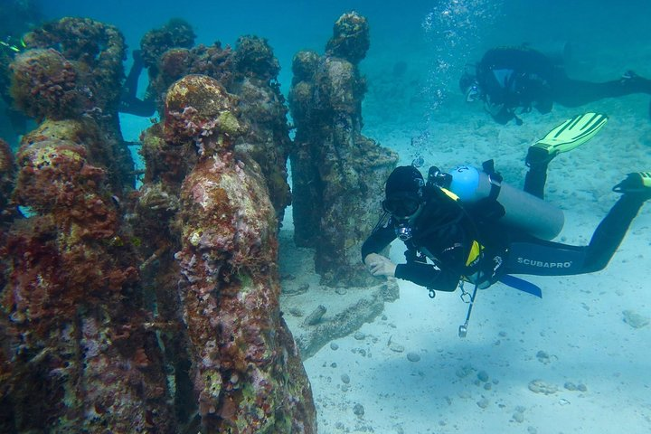 Diving in Cancun Underwater Museum of Art, Playa del Carmen, MÉXICO