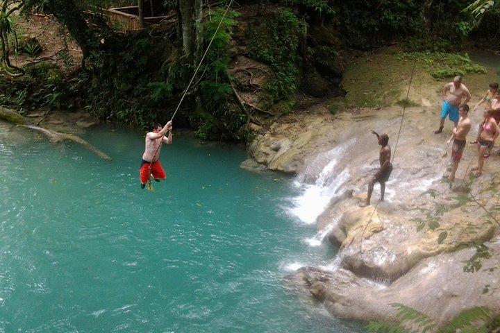 Blue Hole, Zipline and Dunn's River Falls from Falmouth, Falmouth, JAMAICA