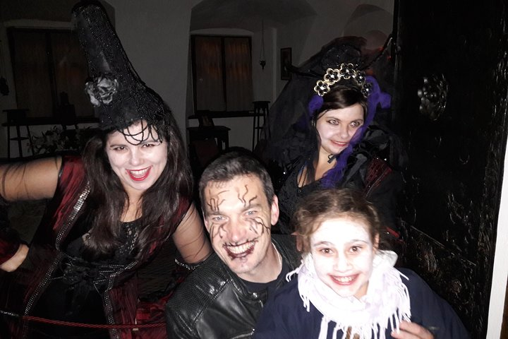 Halloween at Bran Castle from Brasov ,Octomber 30 , 2021, Brasov, RUMANIA