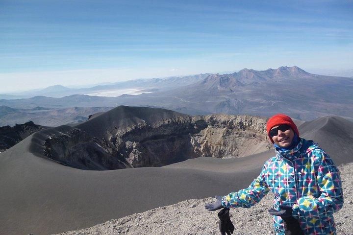 Actividad de Montaña subir al Volcán Misti, por la ruta fácil, de Aguada Blanca, Arequipa, PERU
