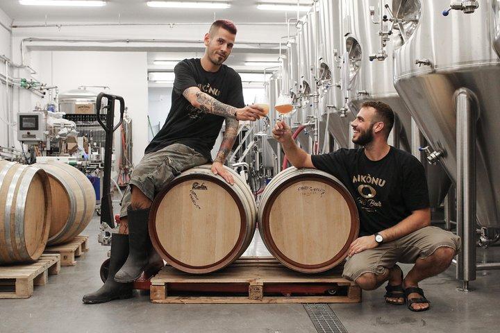 Cellar Tour & Beer Tasting at Mykonos Brewing Company, Miconos, GRECIA