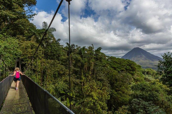 Excursión de 1 día a Puentes Colgantes + Spa Termal en Arenal, San Jose, COSTA RICA