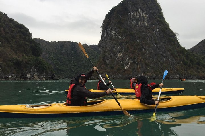 Halong Impressive Cruise 1 Day with Kayaking, Swimming and Panorama Mountain, Halong Bay, VIETNAM
