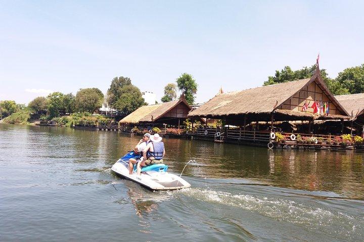 Erawan waterfalls & Safari Jet-Ski on the river Kwai (90min), Kanchanaburi, Thailand