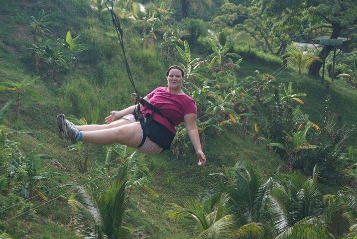 3 Combo Excursion Zip line, suspension bridge and beach, Roatan, Honduras