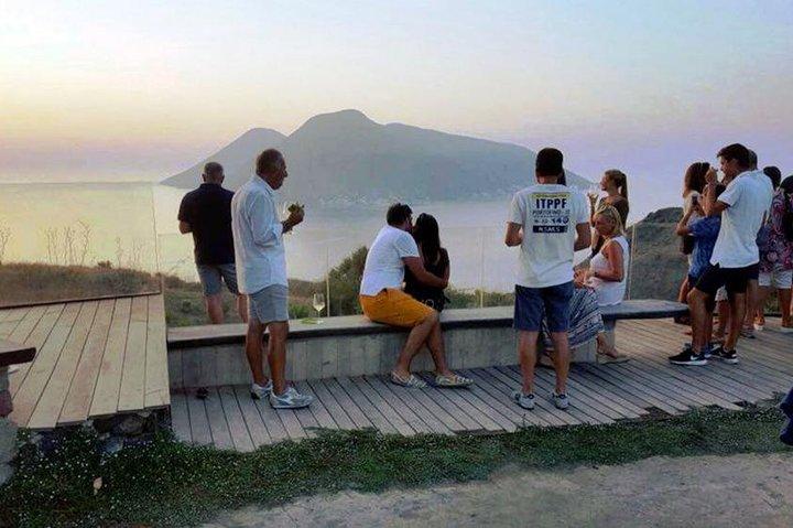 Sunset tasting at Tenuta di Castellaro, Islas Eolias, ITALY