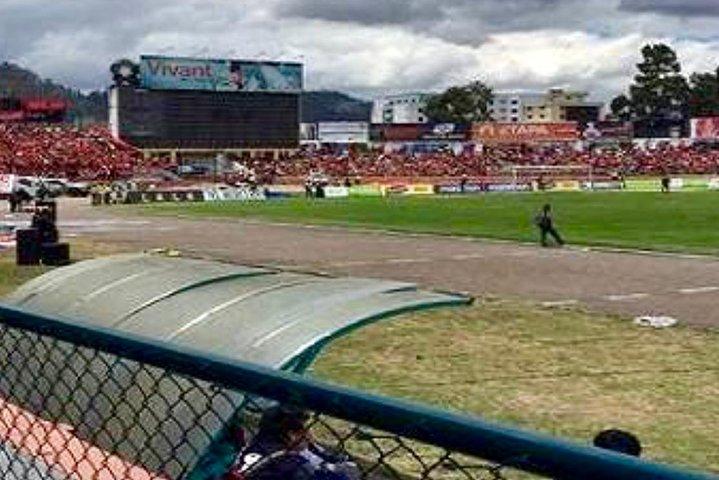 Live Soccer Game of the First League of Ecuador at the Local Stadium of Cuenca, Cuenca, ECUADOR