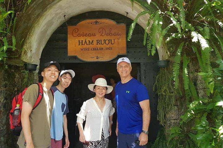 Golden Bridge-Dragon Bridge-Marble Moutain-Monkey Mountain fromHoi An or Da Nang, Da Nang, VIETNAM