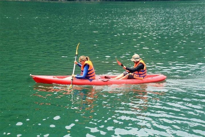 Bai Tu Long small boat & ovenight cruise 2 days tour: Kayaking - swimming, Halong Bay, VIETNAME