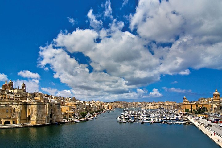 Three Cities guided tour including harbour boat tour of the harbour creeks, ,