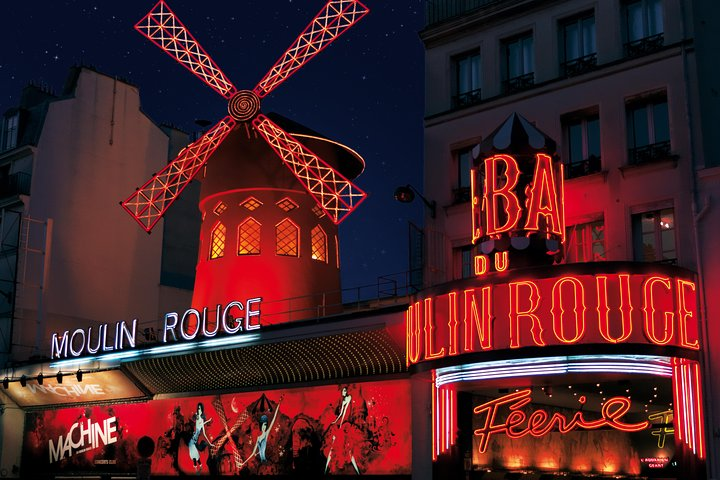 Paris Moulin Rouge Cabaret Show with Champagne Only or Dinner, Paris, FRANCE
