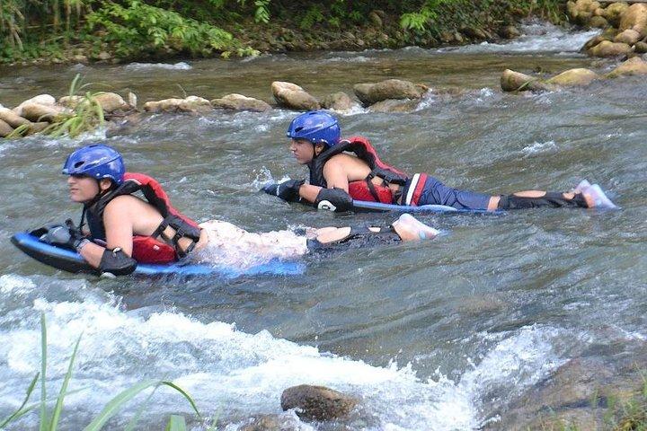 Jungle River Boarding Adventure Tour from Falmouth, Montego Bay, JAMAICA