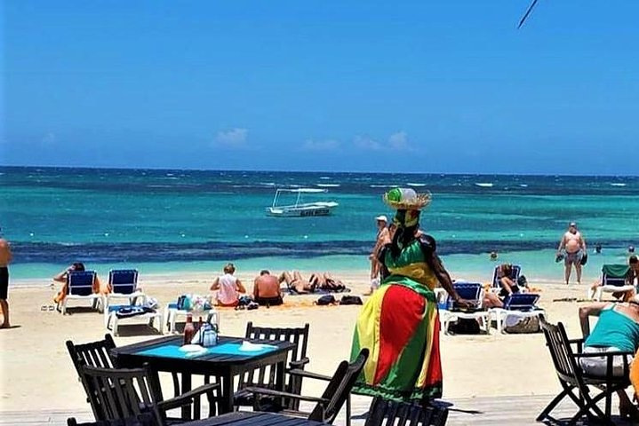 Irie Blue Hole Adventure & Bamboo Blu Beach Club Experience from Falmouth, Montego Bay, JAMAICA
