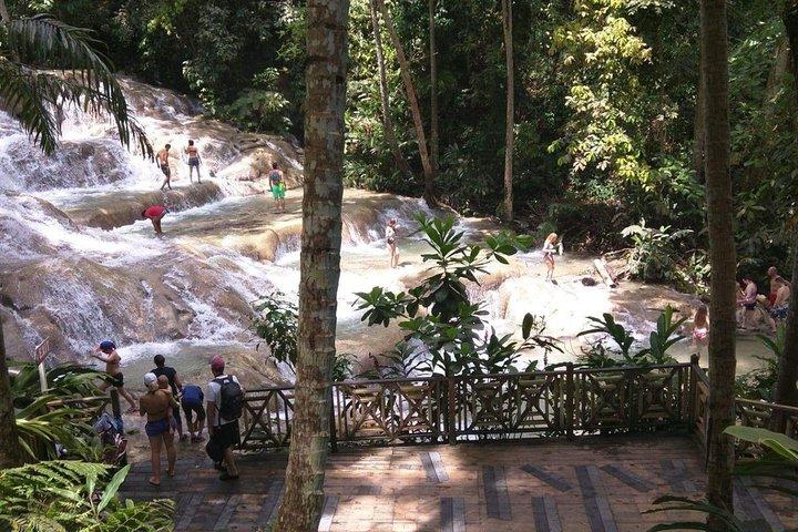 Dunn's River Falls and beach in Ocho Rios Jamaica, Ocho Rios, JAMAICA